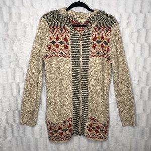 Anthropologie Royal Robbins Zip Up Hooded Sweater